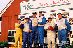 STII podium: winners Eric Curran and Bob Beede with Howard Liebengood Sr., Bill Fenton, Bob Beede, Donald Jacobs and Michael Ellis