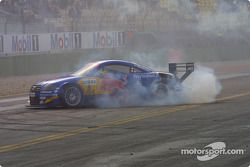 Mattias Ekström smokes the tires
