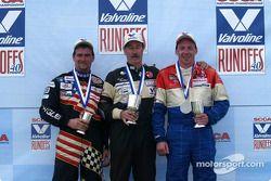 Podium : Kent Prather, vainqueur, avec Kevin Dennis et Kevin Allen
