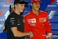 Conferencia de prensa FIA jueves: contendientes del Campeonato del mundo Kimi Raikkonen y Michael Sc