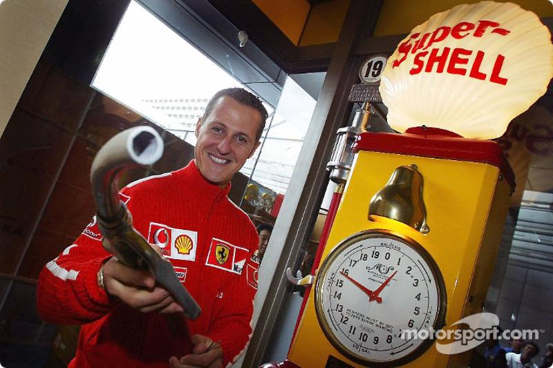 Michael Schumacher at a Shell promotional event