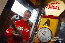 Michael Schumacher at a Shell promotional event