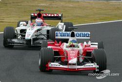 Cristiano da Matta y Jenson Button