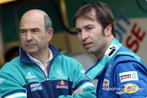 Peter Sauber and Heinz-Harald Frentzen