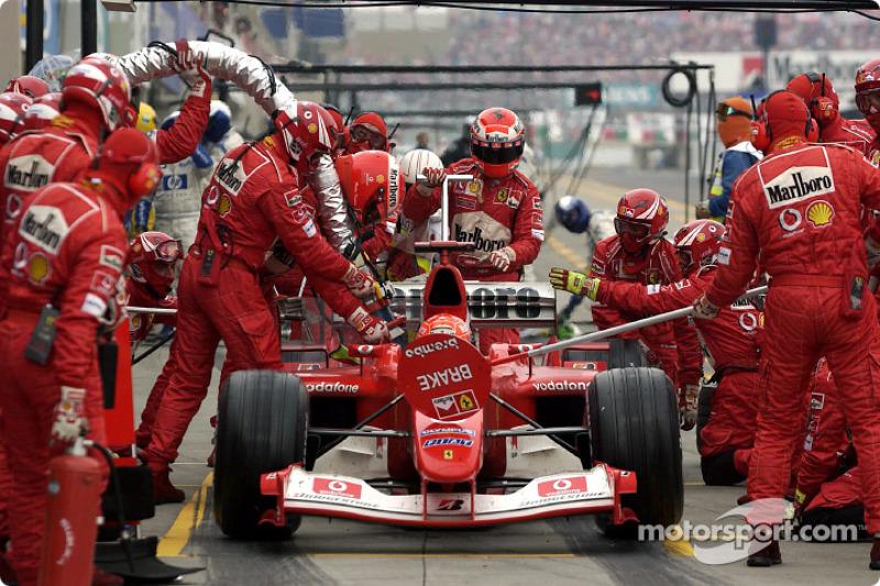 Michael Schumacher pit stop