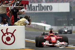 Race winner Rubens Barrichello