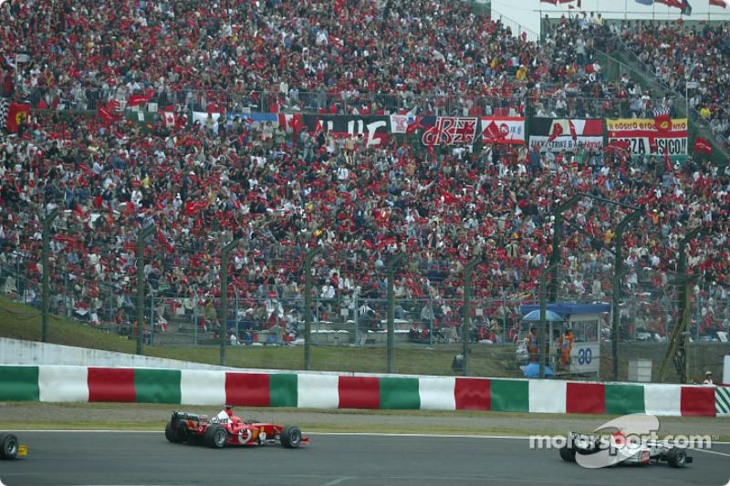 Takuma Sato and Michael Schumacher