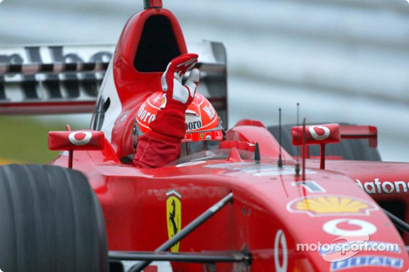 Schumacher se convirtió hexacampeón en su carrera número 194, y ahí ya acumulaba 70 victorias y 55 poles