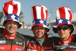 Starting grid: Max Papis, Olivier Beretta and David Saelens