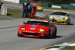 Pace lap: #08 Prodrive Ferrari 550 Maranello: Frederic Dor, Jan Lammers, Jerome Policand