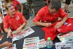 Autograph session: Tomas Enge and Alain Menu