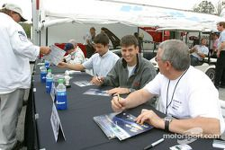 Autograph session: Marc Lieb, Peter Baron and Mike Rockenfeller