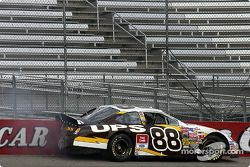 Dale Jarrett hits the wall during qualifying