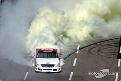 Jon Wood leaves a vapor trail