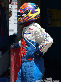 Greg Murphy prepares for his second stint behind the wheel