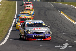 Luke Youlden leads the field after the restart