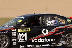 Craig Baird behind the wheel of the Teak Kiwi Racing Commodore