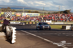 Greg Murphy takes the chequered flag after six and a half hours of racing
