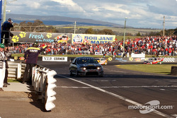 Craig Lowndes crosses the line in second