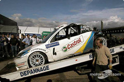 La voiture accidentée de Markko Martin