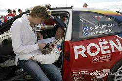 Colin McRae mit seiner Frau Alison