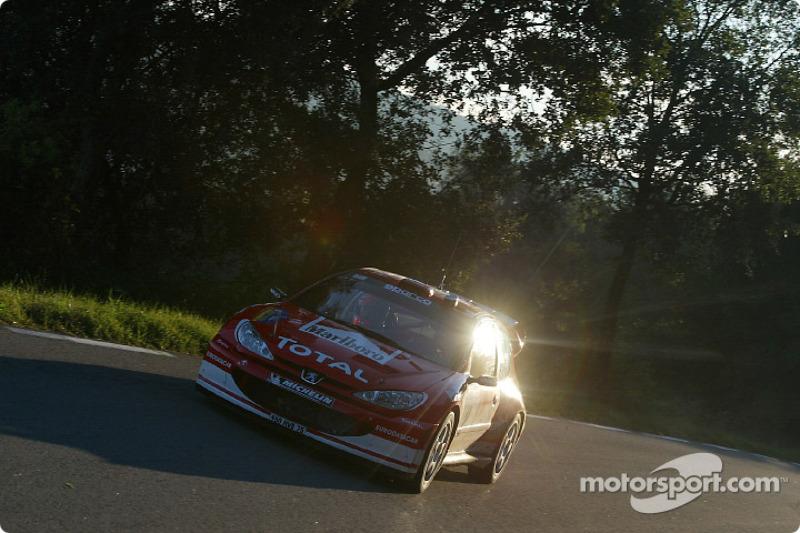 Ричард Бёрнс и Роберт Рид, Peugeot 206 WRC, Ралли Испания 2003