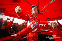 Winner Gilles Panizzi celebrates