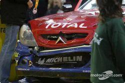 Damage on Carlos Sainz' car