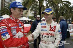 Gilles Panizzi et Sébastien Loeb