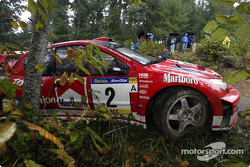 Richard Burns' wrecked Peugeot