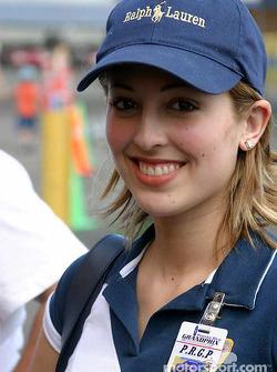 Une hôtesse du Grand Prix de Porto Rico