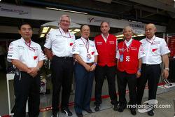 Keizo Takahashi, Ove Andersson, Fujio Cho, John Howett, Akihiko Saito and Toshiro Kurusu