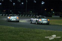 #12 TC Kline Racing BMW Z4: Steve Pfeffer, Donald Salama, and #92 TC Kline Racing BMW Z4: Beau Buisson, Bransen Patch