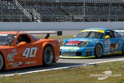 #40 Derhaag Motorsports Corvette: Simon Gregg, Justin Bell, and #66 The Racers Group Porsche GT3 RS: Kevin Buckler, Chris Gleason, Pierre Ehret