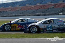 #58 Brumos Racing Porsche Fabcar: David Donohue, Mike Borkowski, and #54 Bell Motorsports Chevrolet Doran: Terry Borcheller, Forest Barber