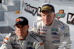 Race winners Terry Borcheller and Forest Barber celebrate