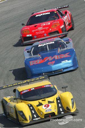 #9 Mears Motor Coach Ford Multimatic: Paul Mears Jr., Joe Varde, #05 Team Re / Max Racing Corvette: John Metcalf, Rick Carelli, David Liniger, et #33 Scuderia Ferrari of Washington Ferrari 360GT: Cort Wagner, Brent Martini