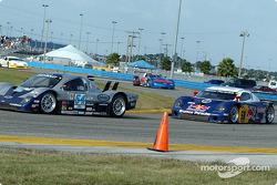 #54 Bell Motorsports Chevrolet Doran: Terry Borcheller, Forest Barber, and #58 Brumos Racing Porsche