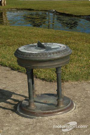 Sundial in park