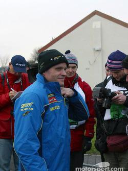 Tommi Makinen at Sennybridge regroup area