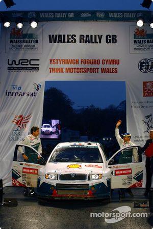 Didier Auriol et Denis Giraudet sur le podium