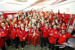 Team Citroën Sport célèbre le championnat des constructeurs