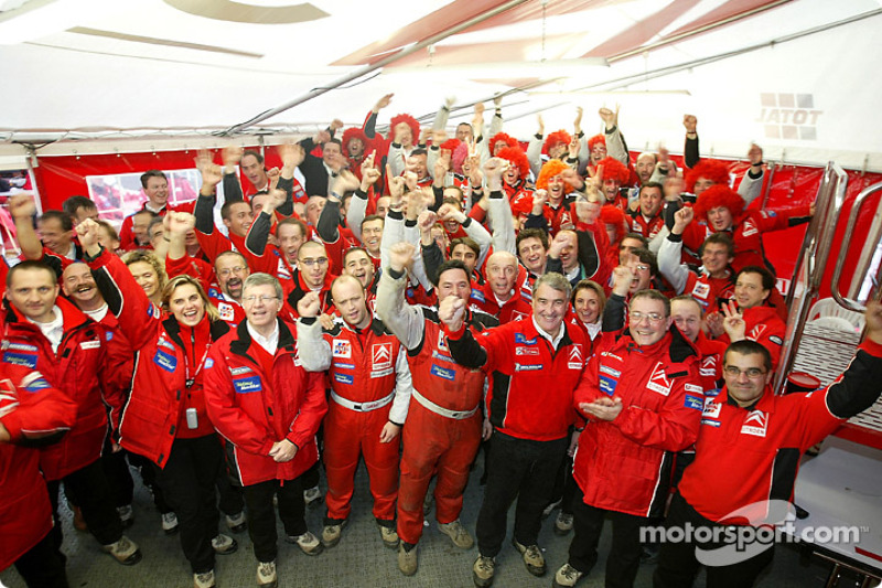 Team Citroën Sport celebrates constructors championship