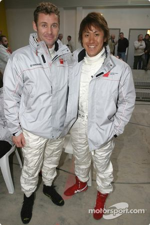 Tom Kristensen et Seiji Ara