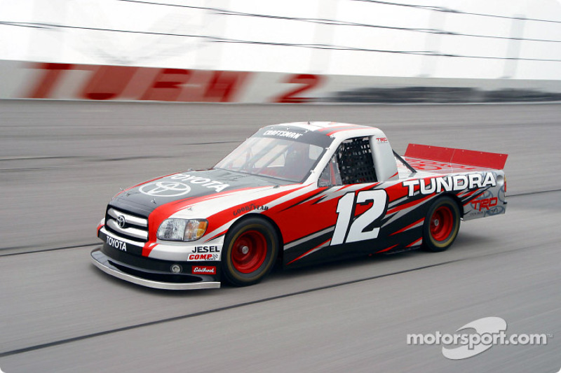 Joe Ruttman Tests The Toyota Tundra Nascar Craftsman Series Truck At