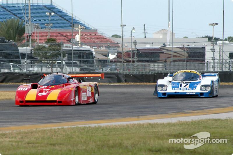85 Argo JM19C, GTP4 und 84 Porsche 956 GTP2