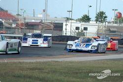 85 Jaguar XJR-7, GTP2; 17 84 Porsche 956, GTP2; 12 92 Intrepid GTP GTP1; 63 85 Argo JM19C, GTP4