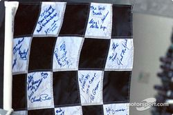 Signed checkered flag