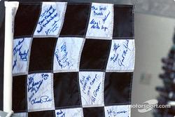 Signed checkered flag
