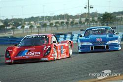#27 Doran Lista Racing Toyota Doran: Didier Theys, Bill Auberlen, and #48 Heritage Motorsports Mustang: Tommy Riggins, David Machavern, Joao Barbosa